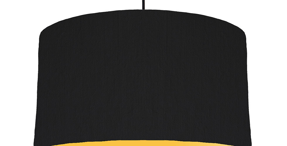 Black & Butter Yellow Lampshade - 50cm Wide