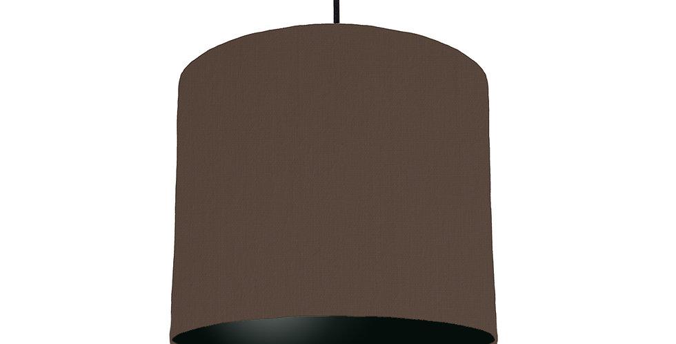 Brown & Black Lampshade - 25cm Wide