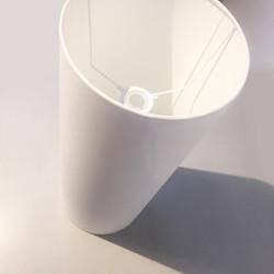 White bespoke lampshade