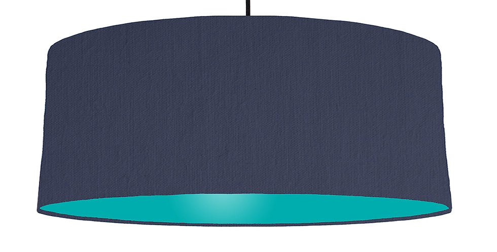 Navy Blue & Turquoise Lampshade - 70cm Wide