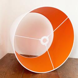 White & Orange Lampshade