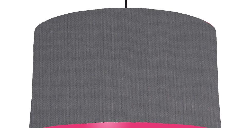 Dark Grey & Magenta Lampshade - 50cm Wide