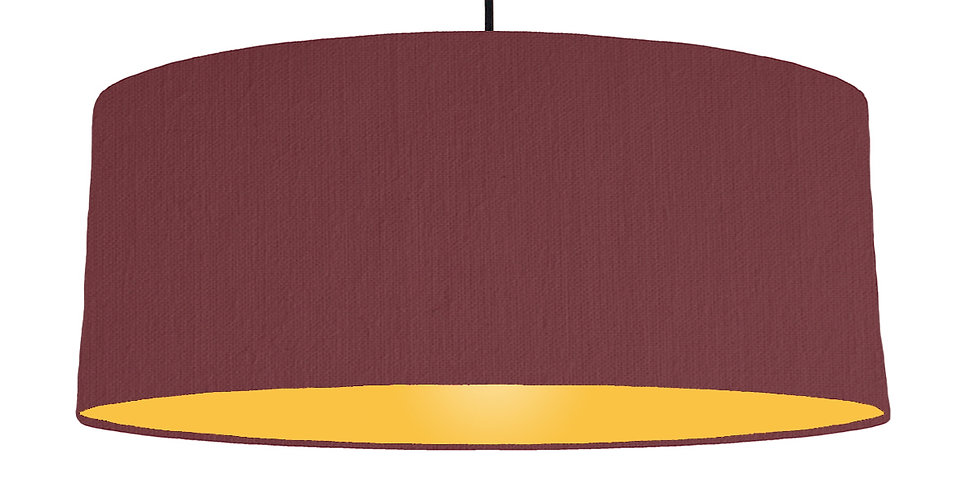 Wine Red & Butter Yellow Lampshade - 70cm Wide