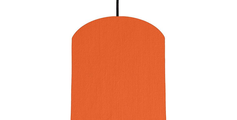 Orange & Light Grey Lampshade - 20cm Wide