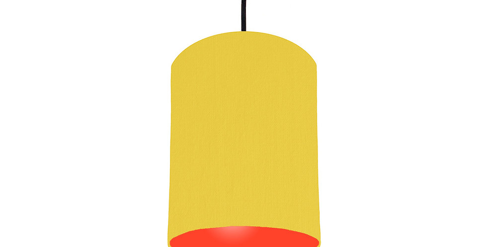 Lemon & Poppy Red Lampshade - 15cm Wide