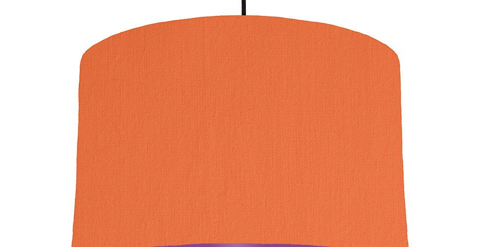 Orange & Purple Lampshade - 40cm Wide