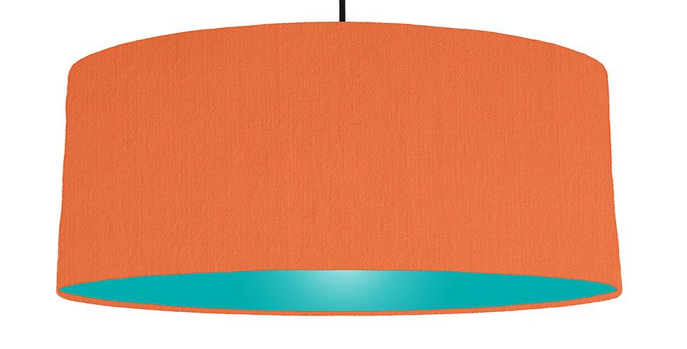 Orange & Turquoise Lampshade - 70cm Wide