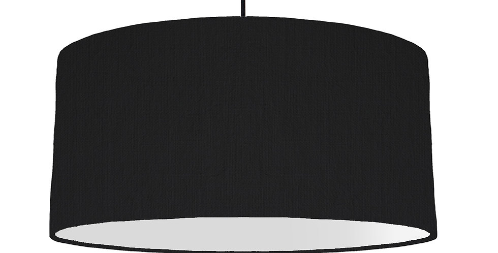 Black & Light Grey Lampshade - 60cm Wide