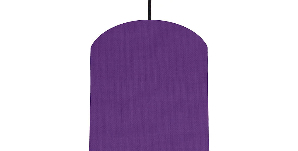 Violet & Navy Lampshade - 20cm Wide