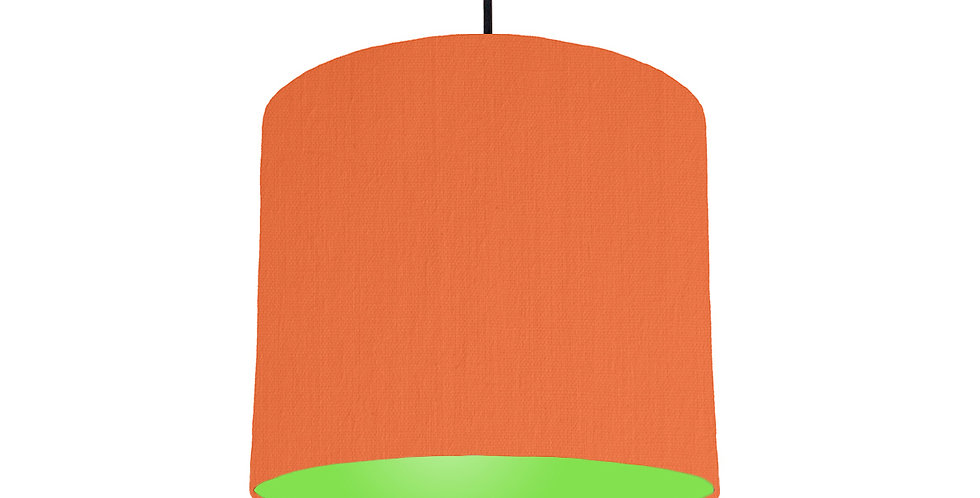 Orange & Lime Green Lampshade - 25cm Wide