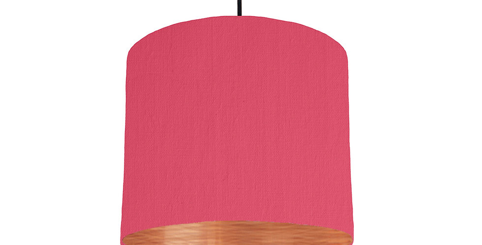 Cerise & Brushed Copper Lampshade - 25cm Wide