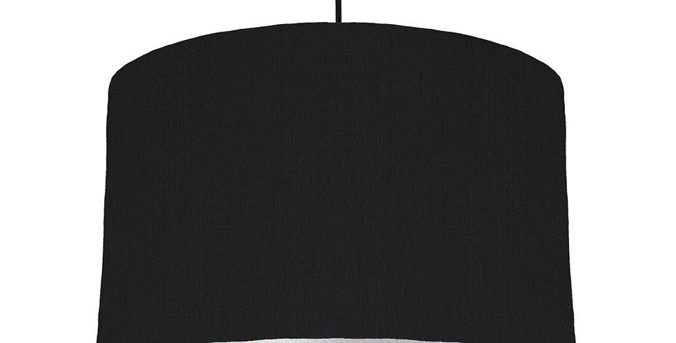 Black & Silver Matt Lampshade - 40cm Wide