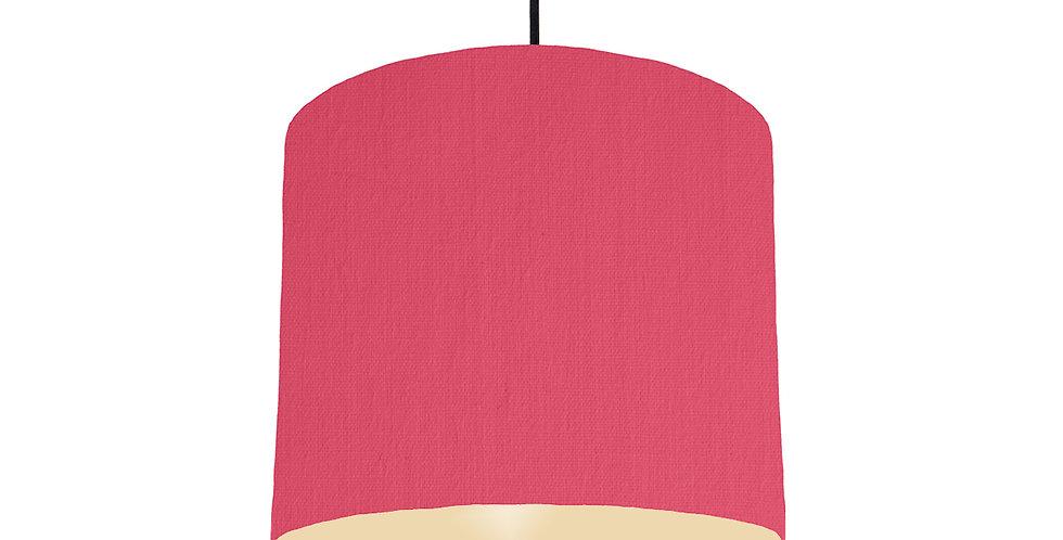 Cerise & Ivory Lampshade - 25cm Wide