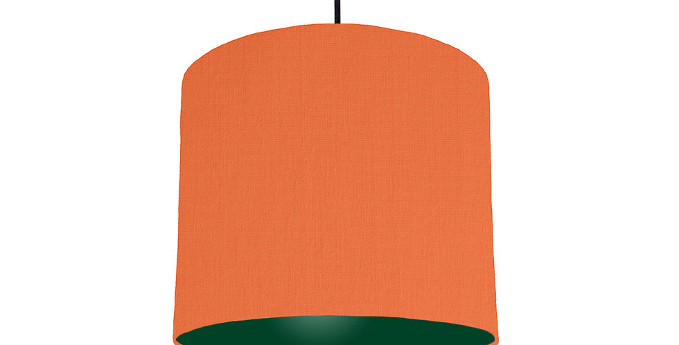 Orange & Forest Green Lampshade - 25cm Wide