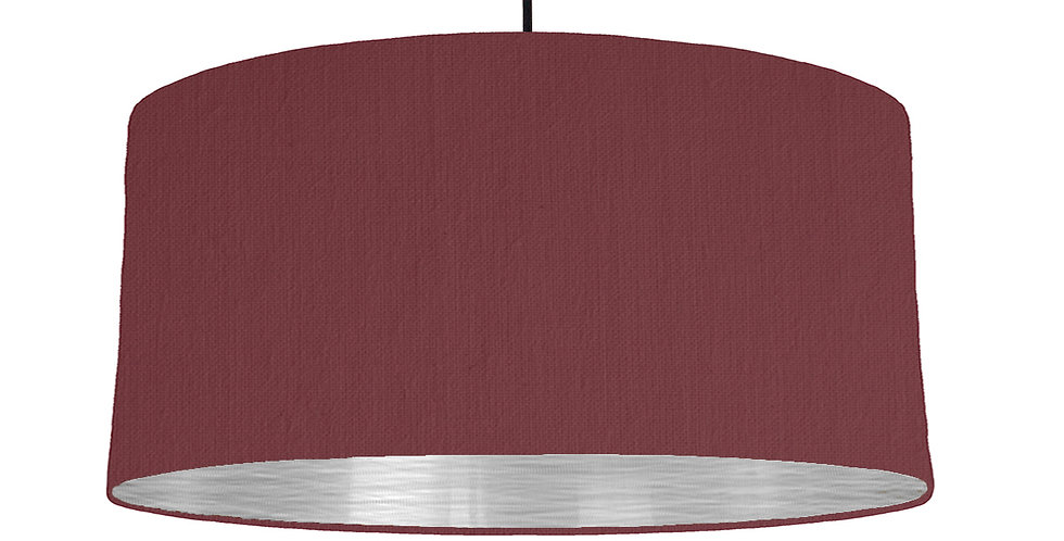 Wine Red & Brushed Silver Lampshade - 60cm Wide