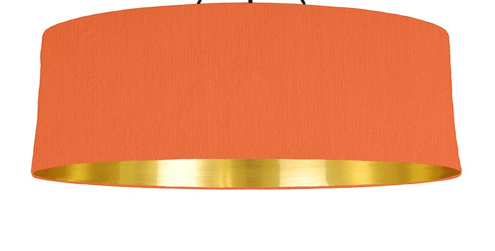 Orange & Gold Mirrored Lampshade - 100cm Wide