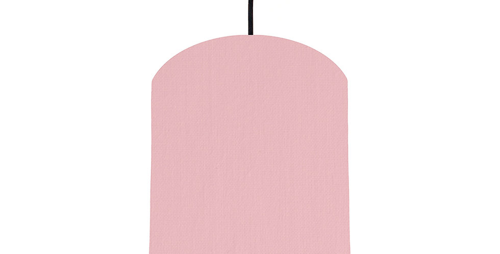 Pink & Light Grey Lampshade - 20cm Wide