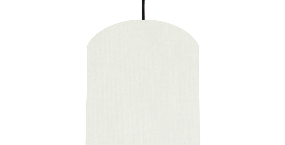 White & Bright Blue Lampshade - 20cm Wide