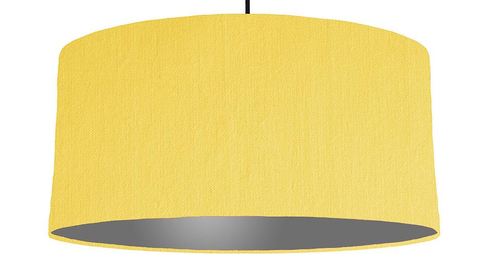 Lemon & Dark Grey Lampshade - 60cm Wide