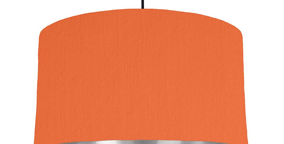 Orange & Silver Mirrored Lampshade - 50cm Wide