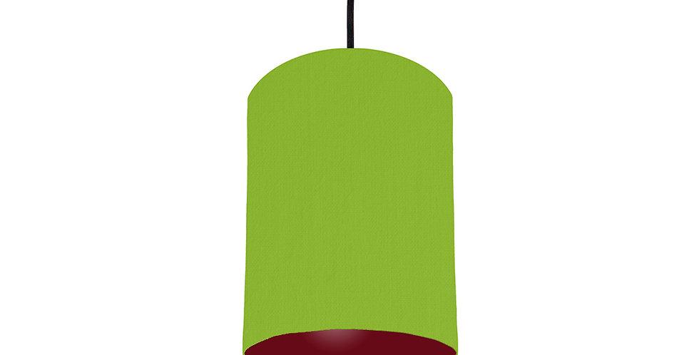 Pistachio & Burgundy Lampshade - 15cm Wide