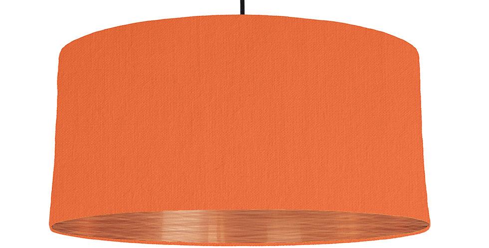 Orange & Brushed Copper Lampshade - 60cm Wide