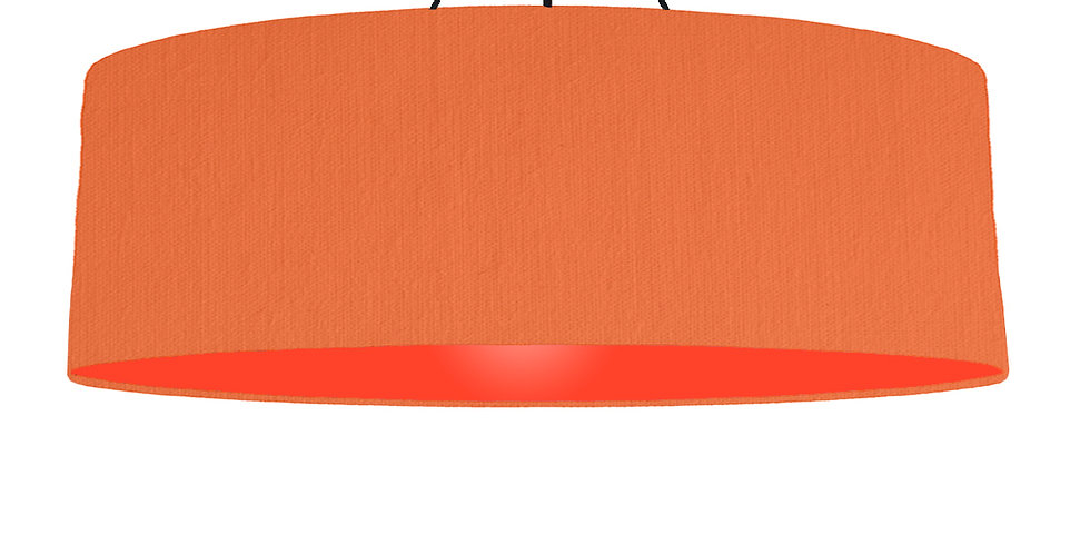 Orange & Poppy Red Lampshade - 100cm Wide
