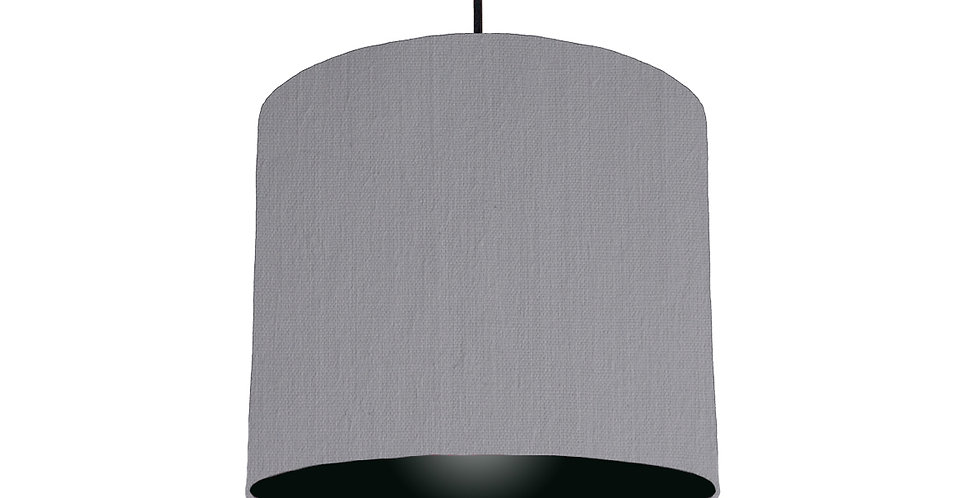 Light Grey & Black Lampshade - 25cm Wide