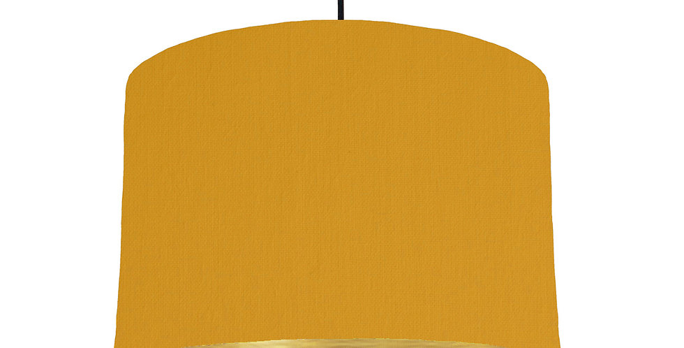 Mustard & Brushed Gold Lampshade - 30cm Wide