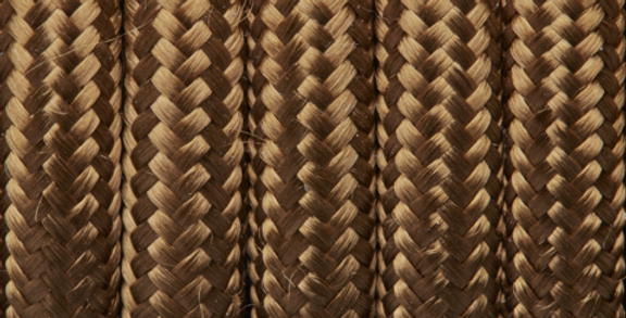 Bronze - Industville Round Fabric Cable