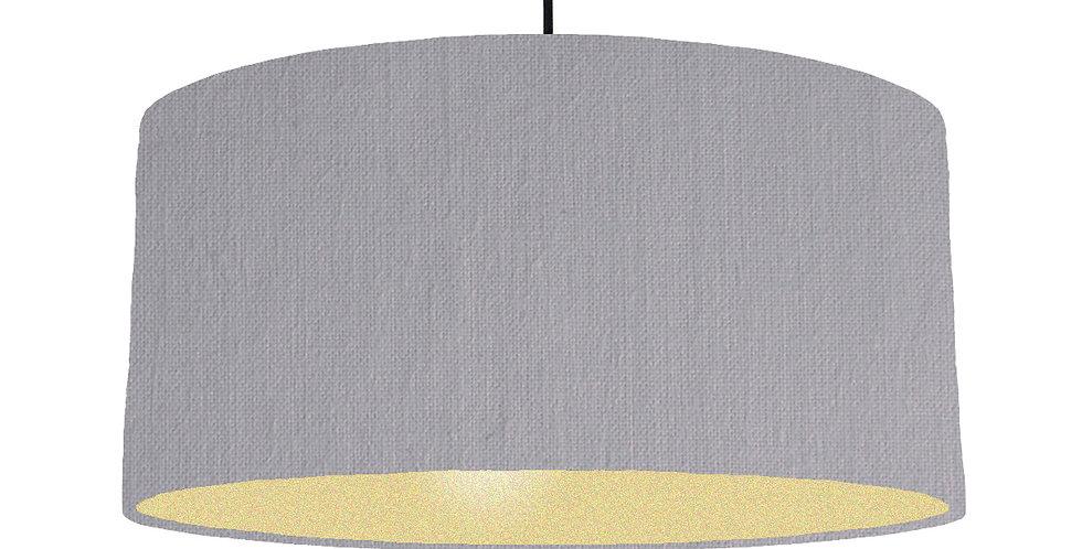 Light Grey & Gold Matt Lampshade - 60cm Wide