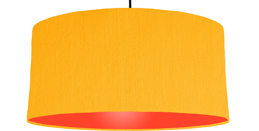 Sunshine & Poppy Red Lampshade - 60cm Wide