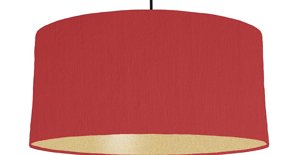 Red & Gold Matt Lampshade - 60cm Wide