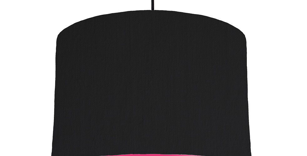 Black & Magenta Lampshade - 30cm Wide