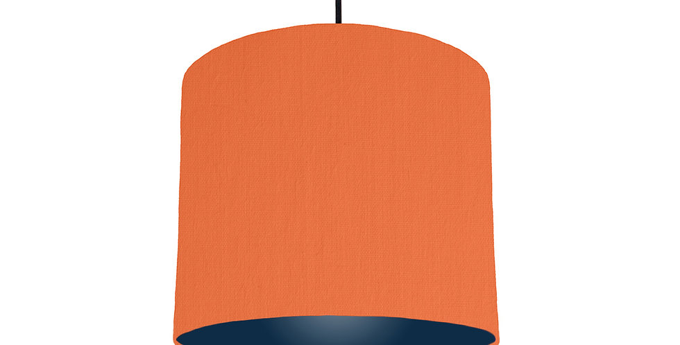 Orange & Navy Lampshade - 25cm Wide