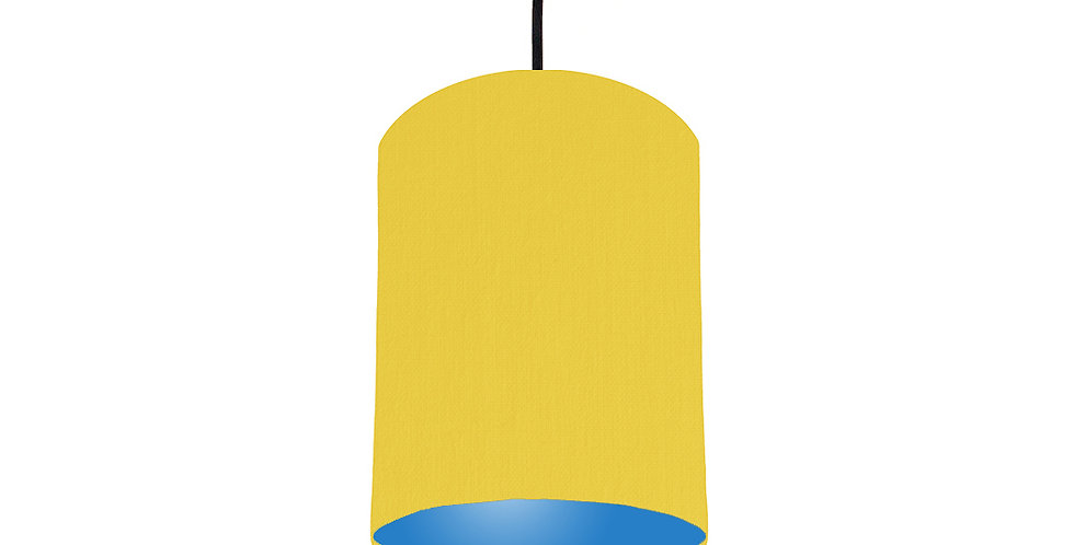 Lemon & Bright Blue Lampshade - 15cm Wide