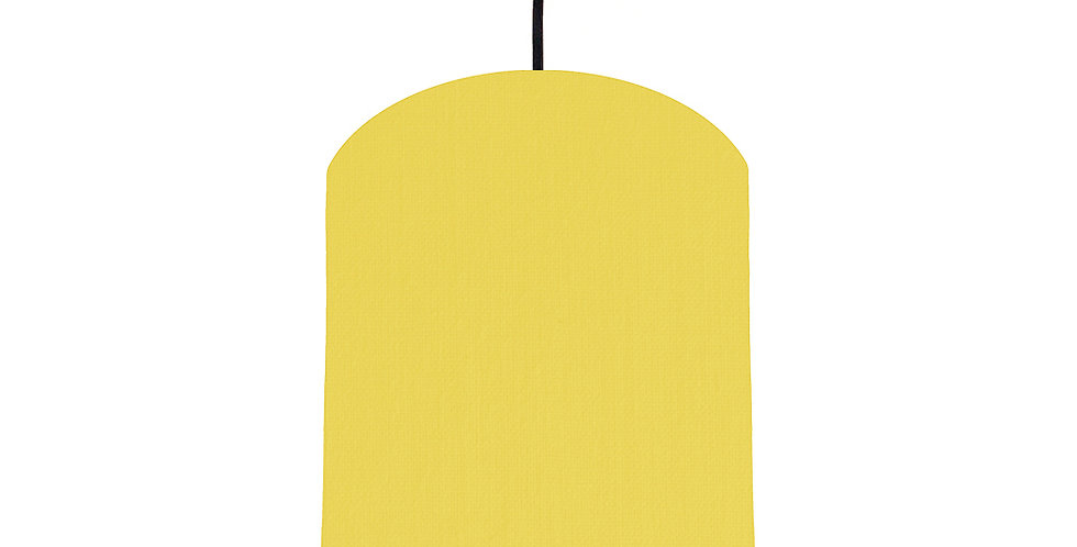 Lemon & Light Grey Lampshade - 20cm Wide