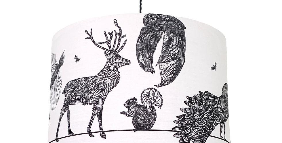 Woodland Animal Lampshade - Metallic Lining
