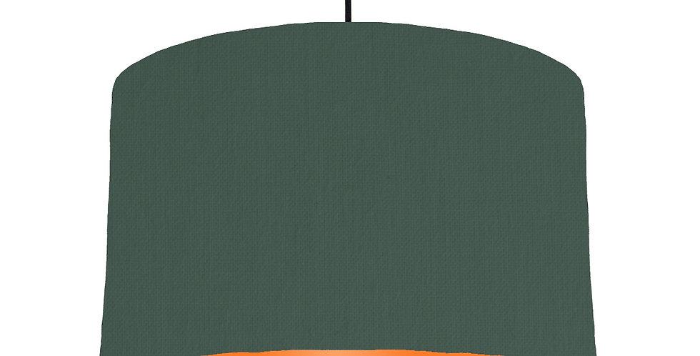 Bottle Green & Orange Lampshade - 40cm Wide