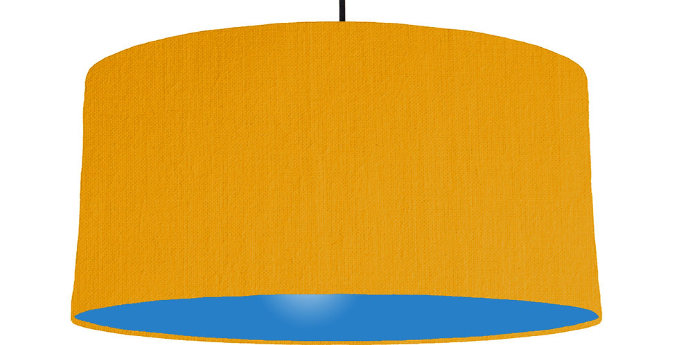 Mustard & Bright Blue Lampshade - 60cm Wide