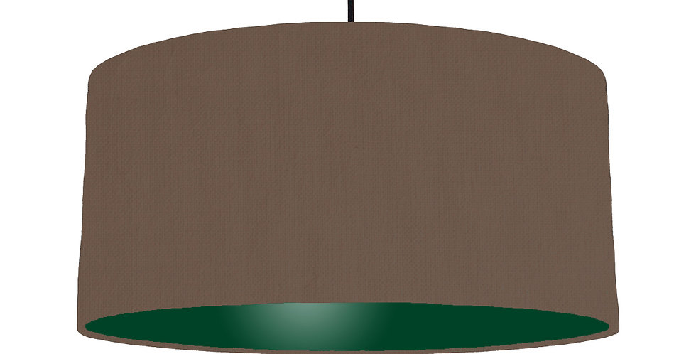 Brown & Forest Green Lampshade - 60cm Wide