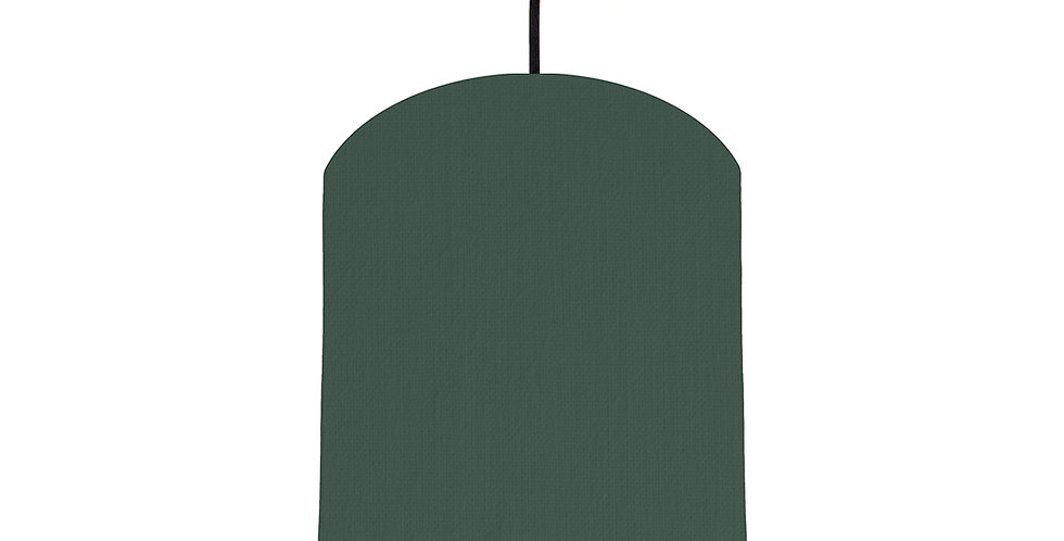 Bottle Green & Wood Lined Lampshade - 20cm Wide