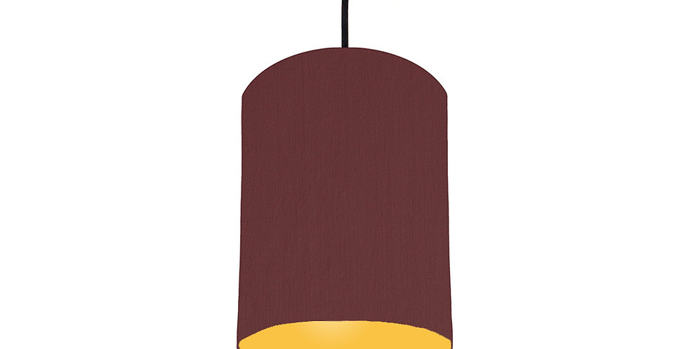 Wine Red & Butter Yellow Lampshade - 15cm Wide