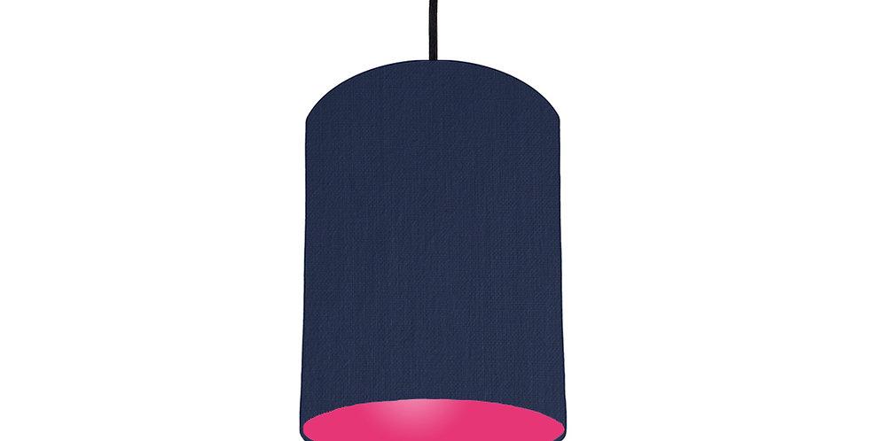 Navy Blue & Magenta Pink Lampshade - 15cm Wide