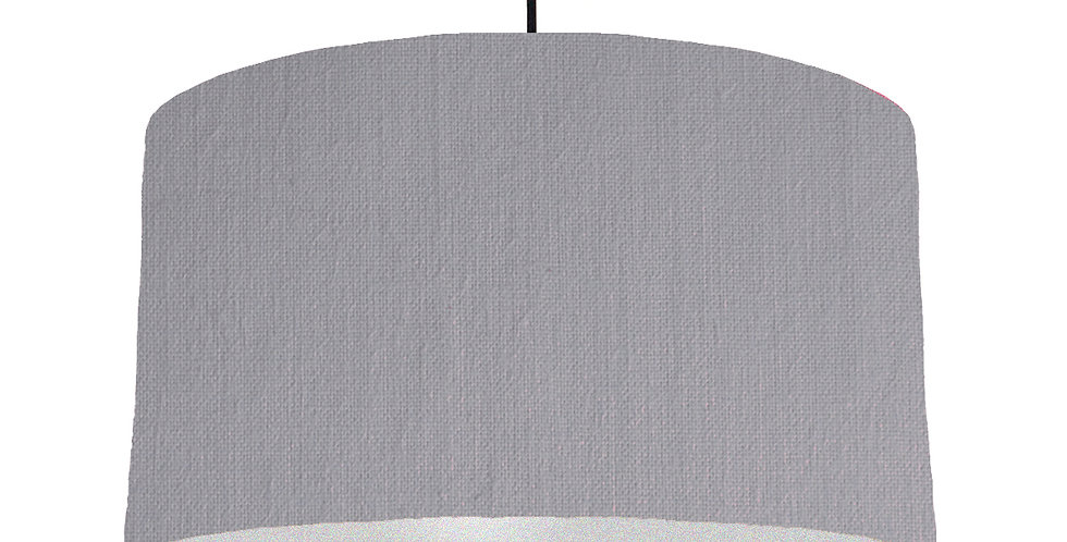 Light Grey & Silver Lampshade - 50cm Wide
