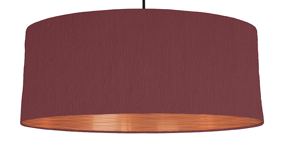Wine Red & Brushed Copper Lampshade - 70cm Wide
