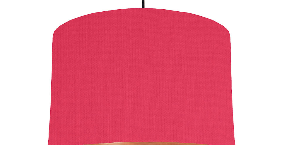 Cerise & Brushed Copper Lampshade - 30cm Wide