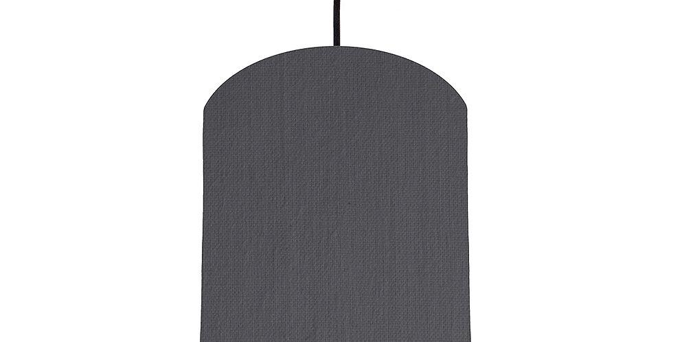 Dark Grey & Light Grey Lampshade - 20cm Wide