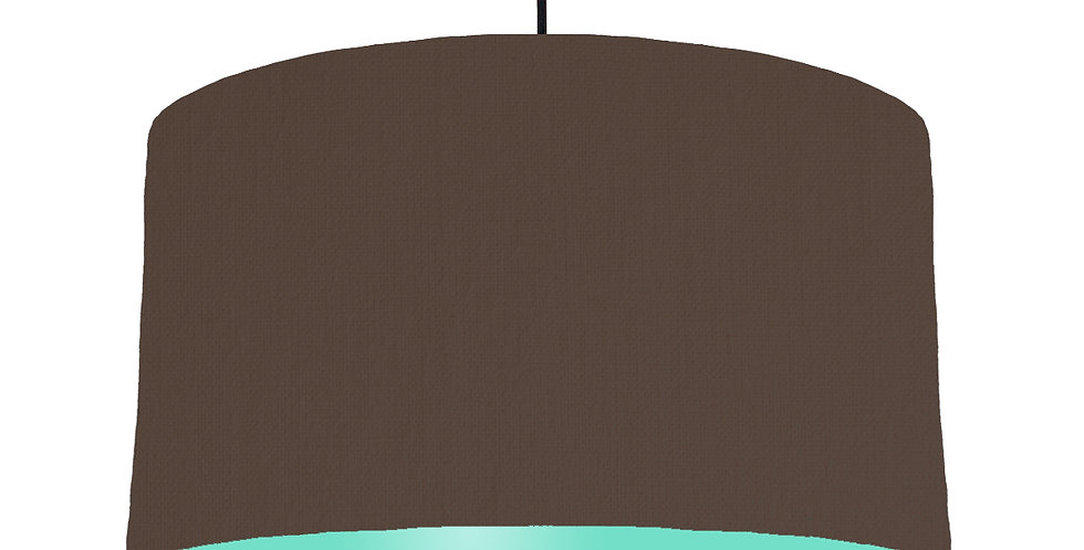 Brown & Mint Lampshade - 50cm Wide