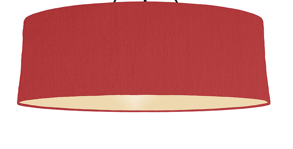Red & Ivory Lampshade - 100cm Wide